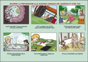 piccole azioni quotidiane contro la proliferazione delle zanzare